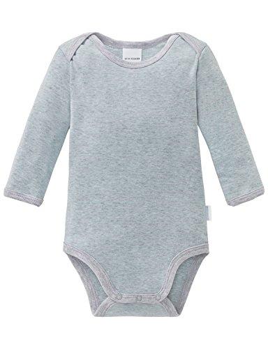 Schiesser Jungen Baby Body 1/1 Strampler, Grau-Mel. 202, 80 -