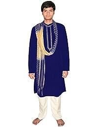 Blau Bollywood Herrenset Größe XL