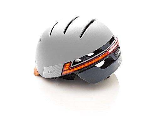 Livall Fahrradhelm BH51T mit Rücklicht, Blinker und SOS-System (grau) - 4