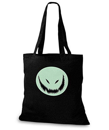 (StyloBags Jutebeutel / Tasche Monster , Farbe:schwarz)