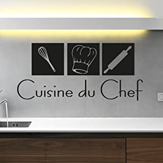 Ambiance-Live Sticker Mural déco Cuisine du Chef - 55 X 120 cm, Noir
