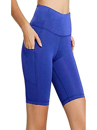 Damen Kurz Sport Leggins, Dasongff Yogahose Workout Shorts Hohe Taille Tights Frauen Sport Yoga Pant Shorts Stretch Hose Trainingsanzug Trainingshose Hochwertige Leggings Skinny Röhre Slim Fit -