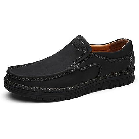scarpe inferiori molli del cuoio genuino/Messo piede scarpa pigro/Un pedale/Scarpe (Pedale Jacks)