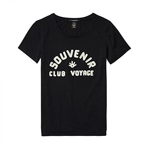 Scotch & Soda Maison Damen Regular Fit Artwork T-Shirt Black