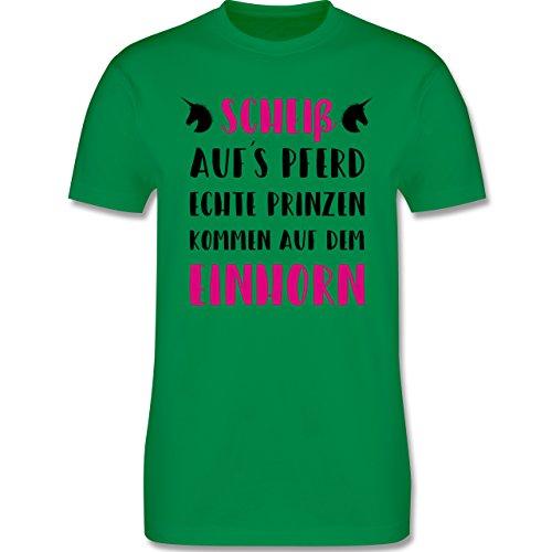 Statement Shirts - Scheiß aufs Pferd echte Prinzen kommen auf dem Einhorn - Herren Premium T-Shirt Grün
