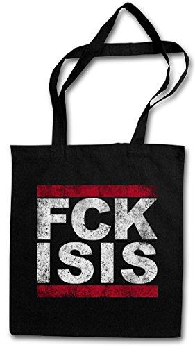 FUCK ISIS Hipster Shopping Cotton Bag Cestas Bolsos Bolsas de la compra reutilizables - FCK Run DMC Pro Islam musulmani Pro Muslim Anti Terror Style Stop IS