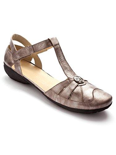Pediconfort - Salomés en cuir, détente et confort - femme - Taille : 37 - Couleur : Mordore