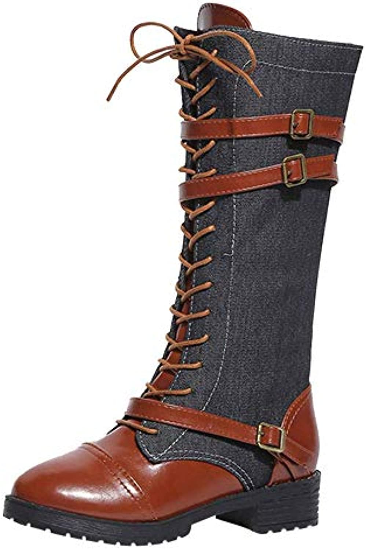 Oudan Stivali Scarpe da Donna Scarpe Scarpe Scarpe Casual Stivali da Martello Donne Denim Pantaloni da Equitazione Lunghi da... | Reputazione affidabile  | Scolaro/Signora Scarpa  2130b4