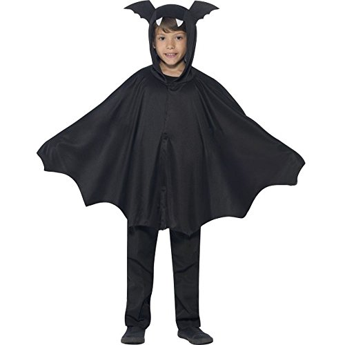Kinder Kostüm Fledermaus Cape Umhang Halloween 4 bis 7 (Kostüm Fledermaus Kind)