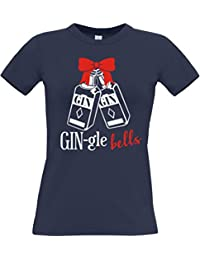 Edward Sinclair Gin-Gle Bells Ladies Fitted T-Shirt