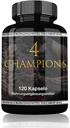 4 Champions By Varg Power | Jetzt Mit 120 Muskel Booster Kapseln | Hohe Qualität | Unterstützt Muskelaufbau | Ideal für Kraftsport | Cross und Fit
