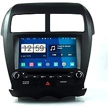 roverone quod Core Android Sistema 8Inch Doble DIN coche reproductor de DVD para MITSUBISHI ASX 20102011con Autoradio GPS navegación Radio estéreo Bluetooth SD USB espejo Enlace pantalla táctil