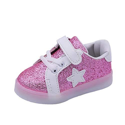 Vicgrey ❤ scarpe bambino con luci led scarpe bambino sportive scarpe ginnastica bambina bambino moda stella sneaker led luminoso bambini casual scarpe colorate luce