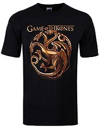 Game Of Thrones Dragons Targaryen T-Shirt Noir Homme Sous Licence Officielle