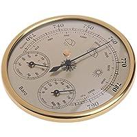 Lanlan estación meteorológica Multifuncional 3-in-1Come Termómetro, higrómetro, barómetro de alta precisión