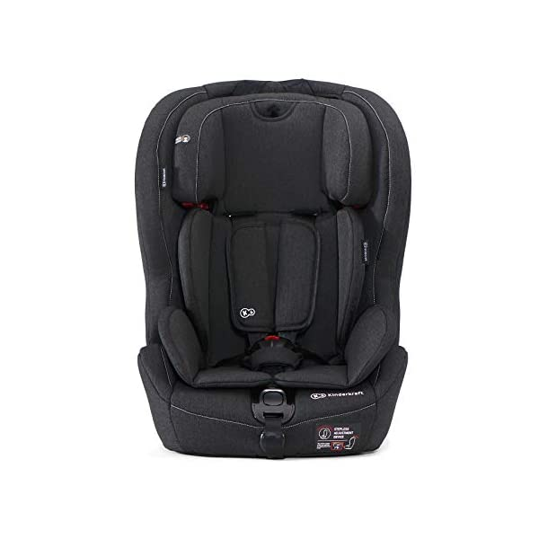 Kinderkraft Safety Fix Baby Car Seat ISOFIX, for Children Weighing 9-36kg - Black kk KinderKraft Car Seat - The Safety-Fix car seat grows together with your child. Secure - Equipped with fixing system ISOFIX + TOP TETHER, which guarantees a stable and safe position for your child. Comfort - Hight adjustable 5-point internal harness and 10-step adjustment headrest means the seat will serve your child for years. 3