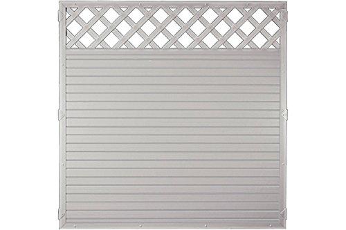 Sichtschutzzaun Kunststoff Gitter grau 180 x 180 cm (Serie Juist)