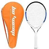 Raqueta de tenis junior, bastidor de aluminio de carbono de 21.6 Inch Raqueta de tenis para niños colgada con bolsa de almacenamiento, ideal para niños Niños Entrenamiento deportivo de niños y niñas (55cm)