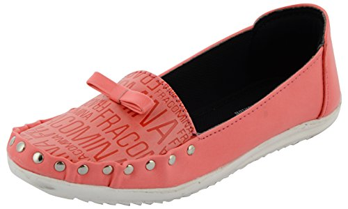 ESSENCE Women's Pink Synthetic Ballet Flats - 8 UK
