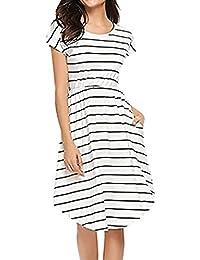 Amazon.es  vestidos blanco playa - Noche   Faldas   Mujer  Ropa bea58cc690f8