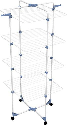 Gimi Modular 4 Stendibiancheria da Pavimento a Torre in Acciaio, 40 m Stendibili
