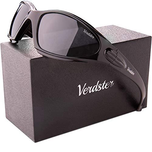 Verdster TourDePro POLARISIERTE Sonnenbrillen für Herren und Damen - ideal zum für Motorrad - UV geschützter - gepolstert, komfortabler Rahmen (Schwarz)