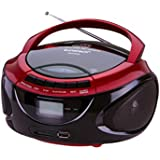 Sunstech CRUSM390RD - Radio AM / FM, CD, SD, USB, 2W RMS, color rojo