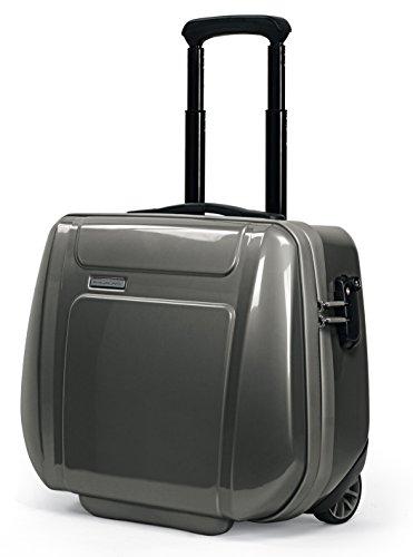 Cartable porte-ordinateur avec système trolley et fermeture de sécurité Piquadro Odissey noir/gris CA2334OY/NGR