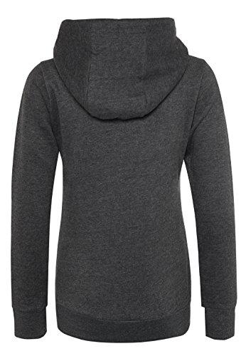 SUBLEVEL Damen Sweathoodie I Sportlich-Eleganter Kapuzenpullover mit hohem Baumwollanteil Dark-Grey
