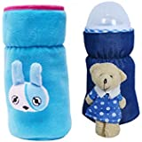 Guru Kripa Baby Products Presents Philips Avent Bottle Cover Plush Stretchable Baby Feeding Bottle Cover With Handle (Blue, (260ml To 330ml))
