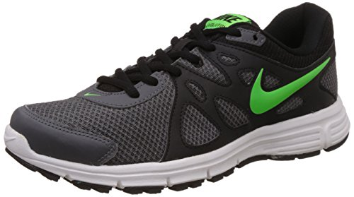 Nike Men's Revolution 2 MslDark Grey, Black, Green Star and WhiteRunning Shoes -10 UK/India (45 EU)(11 US)