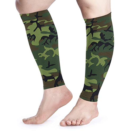 Dary Green Tactical Camouflage Camo Military Army Cool Running Wadenkompressionshülle Leg Jobs Running Half Foot Guard -