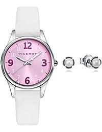 Reloj Viceroy Niña Pack 42404-75 + Pendientes Flor Perla