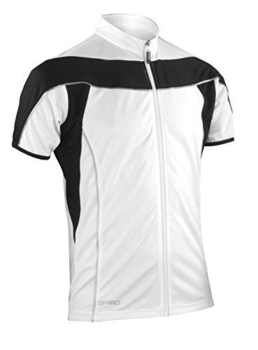 Spiro Herren Bikewear Full Zip Tops Weiß Schwarz