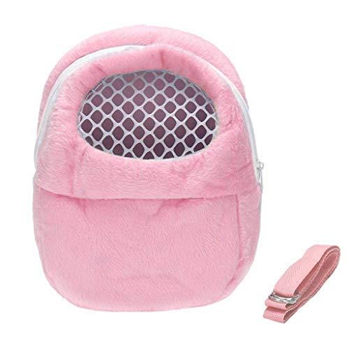Fayella Small Pet Carrier Kaninchenkäfig - Hamster Chinchilla Travel Warme Taschen - Käfige Meerschweinchen Tragetasche Atmungsaktiv, Pink, L (Meerschweinchen Pink Käfig)