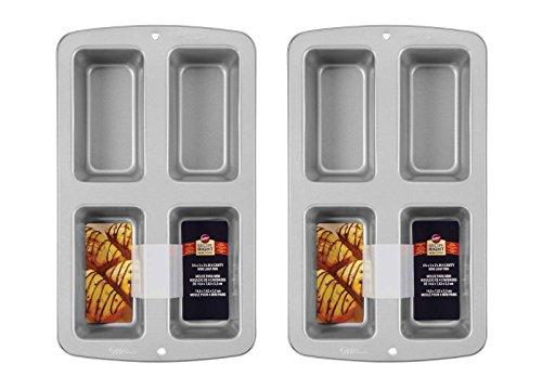Wilton Recipe Right Kastenform, mittelgroß Petite 4 Loaf, 2 Pack (Wilton Recipe)