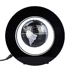 Idea Regalo - Mappamondo levitazione magnetica,globo galleggiante di levitazione magnetica gira del mappa del mondo utilizzare come decorazione del scrivania della casa o da ufficio