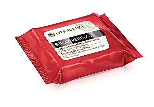 Yves Rocher SÉRUM VÉGÉTAL glättende Reinigungstücher, feuchte Abschminktücher, praktisch für...