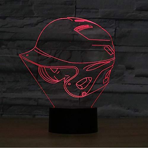 Baby Schlaf Beleuchtung Atmosphäre Dekor Raum 3D Baseball Cap Lampe 7 Farbwechsel Helm Hut Form Nachtlicht Led Schreibtischlampe Geschenke