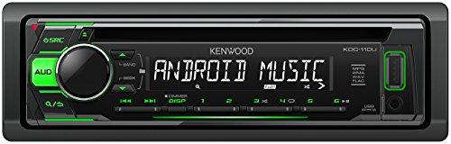 Kenwood Autoradio CD avec récepteur de frontseitigem USB/entrée AUX Noir