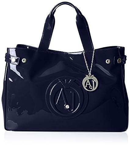 Armani Jeans 922591CC855, shoppers femme - Bleu - Blau (BLU 00335), 26x14x40 cm (B x H x T)