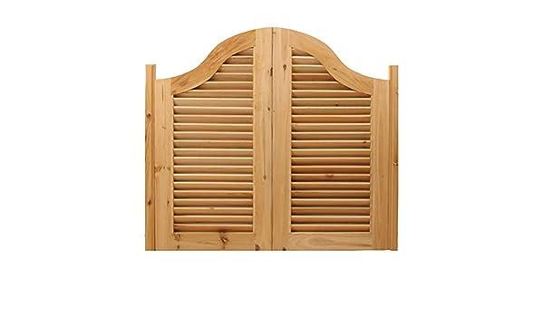 Guowei Holz Schwingt/ür Unvollendet Cafe Saloon Garten Eingang Verwenden Scharnier Inbegriffen Rustikal Anpassbar Size : 80cmx80cm