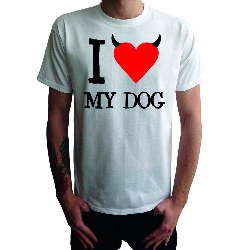 I don't love My Dog Herren T-Shirt Weiß