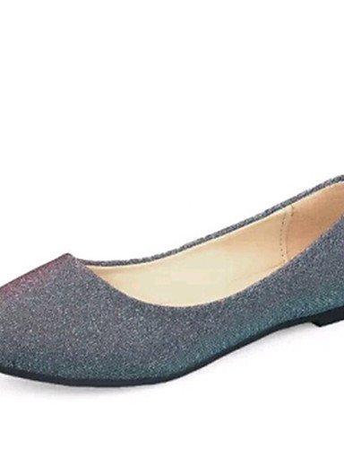 ZQ DamenOutddor / B¨¹ro / Kleid / L?ssig-PU-Flacher Absatz-Komfort / Ballerina-Schwarz / Lila / Silber / Beige purple-us5 / eu35 / uk3 / cn34