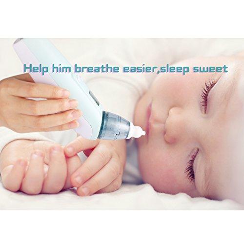 Smibie Baby Nasensauger Musik Nasenreiniger Nasal Aspirator mit Licht 3 Betriebsstufen und LCD-Anzeige - 8