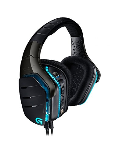Logitech G633 Artemis Spectrum Pro Gaming Headset (7.1-Surround-Sound, 3,5-mm-Audioausgang, geeignet für PC, Xbox One und PS4) Schwarz/Blau (Logitech Gaming Headset)