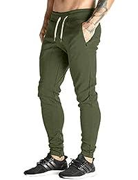 MODCHOK Hombre Pantalones Largos Deportivos Ch¨¢ndal Jogger Chino Jogging  Cargo Algod¨® 6dbb54af0e17
