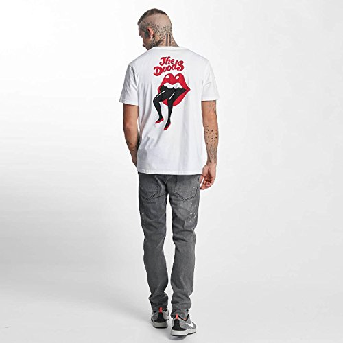 THE DUDES Uomo Maglieria/T-Shirt Lips Bianco