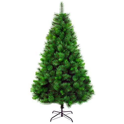 KELE Nationalbaum, Feel-real Künstlicher Weihnachtsbaum Beflockte Kegel Metallständer Fichte, klappbar Grün Sapin de Noel Bois Verzierungen Einfache Montage-A 120cm(4ft) -