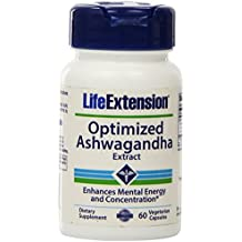 Optimizados extraer, 60 Caps Veggie Ashwagandha - Life Extension